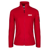 Columbia Ladies Full Zip Red Fleece Jacket-NDSCS w/ Science of Success Tagline - No box