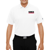 Under Armour White Performance Polo-NDSCS w/ Science of Success Tagline