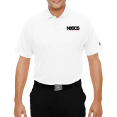 Under Armour White Performance Polo-NDSCS w/ Science of Success Tagline - No box