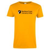 Ladies Gold T Shirt-Northern  Essex Community College