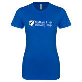 Next Level Ladies SoftStyle Junior Fitted Royal Tee-Northern  Essex Community College
