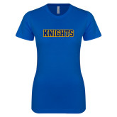Next Level Ladies SoftStyle Junior Fitted Royal Tee-Knights