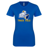 Next Level Ladies SoftStyle Junior Fitted Royal Tee-Track and Field