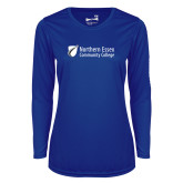Ladies Syntrel Performance Royal Longsleeve Shirt-Northern  Essex Community College