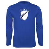 Performance Royal Longsleeve Shirt-NECC Shield
