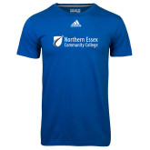Adidas Climalite Royal Ultimate Performance Tee-Northern  Essex Community College