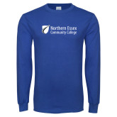 Royal Long Sleeve T Shirt-Northern  Essex Community College