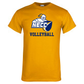 Gold T Shirt-Volleyball