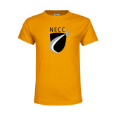 Youth Gold T Shirt-NECC Shield