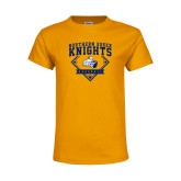 Youth Gold T Shirt-Baseball
