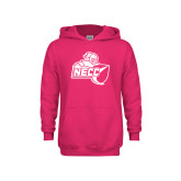 Youth Raspberry Fleece Hoodie-Primary Mark