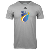 Adidas Climalite Sport Grey Ultimate Performance Tee-NECC Shield