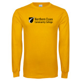 Gold Long Sleeve T Shirt-Northern  Essex Community College