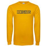 Gold Long Sleeve T Shirt-Knights