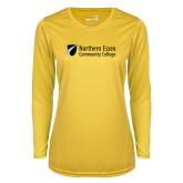 Ladies Syntrel Performance Gold Longsleeve Shirt-Northern  Essex Community College