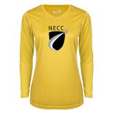 Ladies Syntrel Performance Gold Longsleeve Shirt-NECC Shield