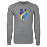 Grey Long Sleeve T Shirt-NECC Shield