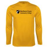 Performance Gold Longsleeve Shirt-Northern  Essex Community College