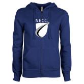 ENZA Ladies Royal Fleece Full Zip Hoodie-NECC Shield