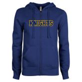 ENZA Ladies Royal Fleece Full Zip Hoodie-Knights