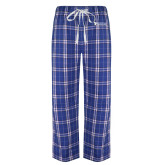 Royal/White Flannel Pajama Pant-Northern  Essex Community College