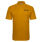Gold Textured Saddle Shoulder Polo-Northern  Essex Community College