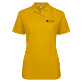 Ladies Easycare Gold Pique Polo-Northern  Essex Community College