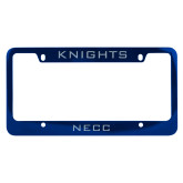 Metal Blue License Plate Frame-Knights
