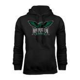 Black Fleece Hoodie-Alternate Full Hawk Logo Full Color