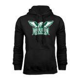 Black Fleece Hoodie-Alternate Full Hawk Logo Two Color