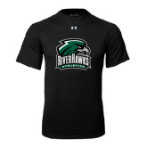 Under Armour Black Tech Tee-RiverHawks Athletics
