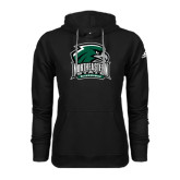 Adidas Climawarm Black Team Issue Hoodie-Northeastern State RiverHawks w/Hawk Head