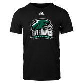 Adidas Black Logo T Shirt-RiverHawks Athletics