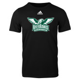 Adidas Black Logo T Shirt-Alternate RiverHawks Athletics Two Color