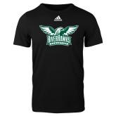 Adidas Black Logo T Shirt-Alternate RiverHawks Athletics Two Color