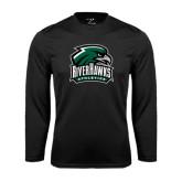Performance Black Longsleeve Shirt-RiverHawks Athletics