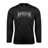 Performance Black Longsleeve Shirt-Northeastern State