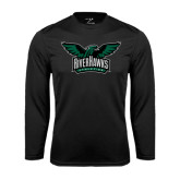 Performance Black Longsleeve Shirt-Alternate RiverHawks Athletics Full Color