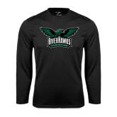 Performance Black Longsleeve Shirt-Alternate RiverHawks Athletics Reduced Color