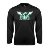 Performance Black Longsleeve Shirt-Alternate RiverHawks Athletics Two Color