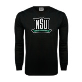 Black Long Sleeve TShirt-NSU Northeastern State
