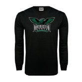 Black Long Sleeve TShirt-Alternate Full Hawk Logo Full Color