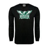Black Long Sleeve TShirt-Alternate Full Hawk Logo Two Color