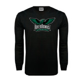 Black Long Sleeve TShirt-Alternate RiverHawks Athletics Full Color