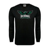 Black Long Sleeve TShirt-Alternate RiverHawks Athletics Reduced Color