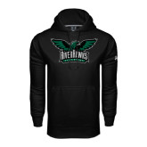 Under Armour Black Performance Sweats Team Hoodie-Alternate RiverHawks Athletics Full Color