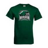 Dark Green T Shirt-Northeastern State RiverHawks w/Hawk Head