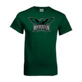 Dark Green T Shirt-Alternate Full Hawk Logo Full Color