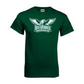 Dark Green T Shirt-Alternate RiverHawks Athletics Two Color