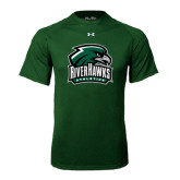 Under Armour Dark Green Tech Tee-RiverHawks Athletics